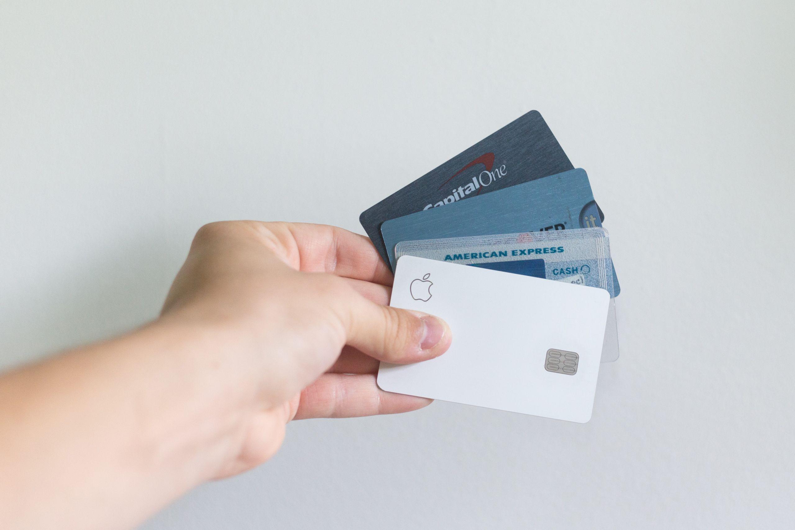 Tarjetas de crédito de diferentes bancos